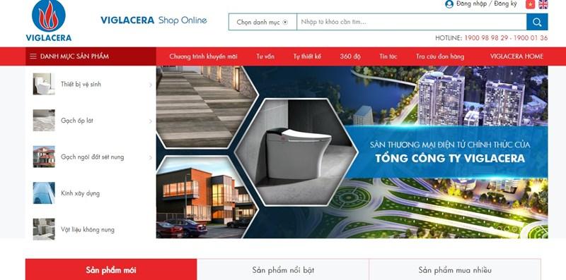 Một bước đột phá trong ngành VLXD: Viglacera ra mắt Sàn thương mại điện tử VIGLACERA Shop Online.