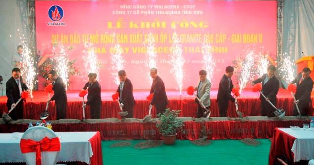 Viglacera khởi công 'Nhà máy Xanh' – gạch Granite cao cấp tại Thái Bình